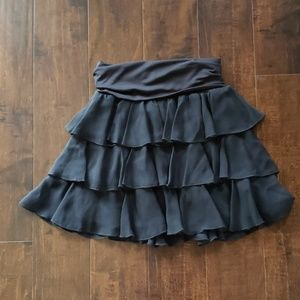 Bebe ruffle fold over waist skirt
